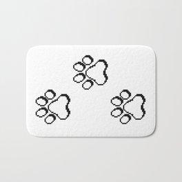 Pixel paw pads! Bath Mat