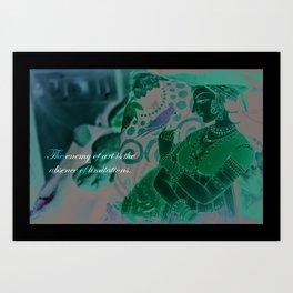 contemporary mughal  Art Print