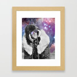 People of the Universe-Space Glasses-Purple Framed Art Print