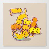 cats Canvas Prints featuring cats ! by parisian samurai studio