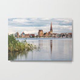 View over the river Warnow to Rostock Metal Print