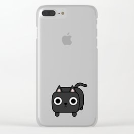 Cat Loaf - Black Kitty Clear iPhone Case