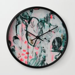 Summers End Abstract Artwork Wall Clock