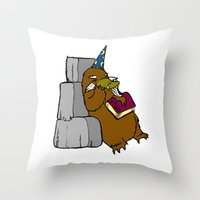 platypus Throw Pillows featuring Platypus Wizard by StudioMeyringer