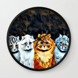 """Louis Wain's Cats """"Five Cats"""" Wall Clock"""