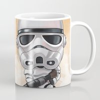 storm trooper Mugs featuring STORM TROOPER by Leoren