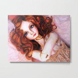Venus in Furs Metal Print