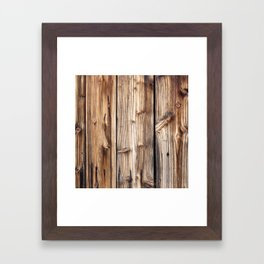 Wood pattern Framed Art Print