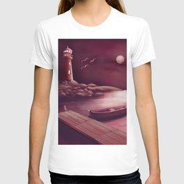 Magenta Lighthouse T-shirt