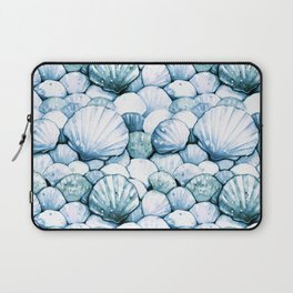 Sea Shells Teal Laptop Sleeve