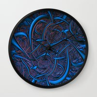 nightmare Wall Clocks featuring Nightmare by Lyle Hatch