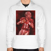 murray Hoodies featuring Aaron Murray of UGA Bulldogs Football by Wesley S Abney