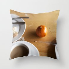 The Scenic Cafe Throw Pillow