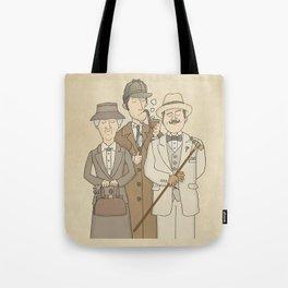 The Detectives - Miss Marple, Sherlock Holmes, Hercule Poirot Tote Bag