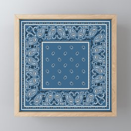 Classic Blue Bandana Framed Mini Art Print