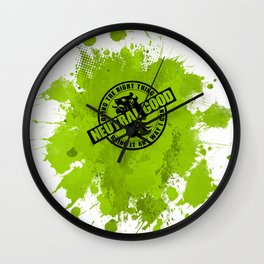 Neutral Good RPG Game Alignment Wall Clock