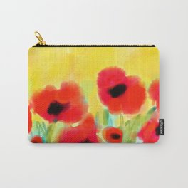 Red poppies - original design by ArtStudio29 - red flowers on yellow background Carry-All Pouch