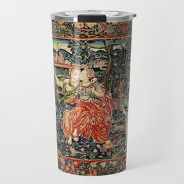 Franco Flemish Allegorical 17th Century Tapestry Print Travel Mug