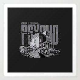 Psycho House w/ Title Art Print