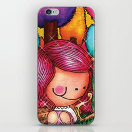 Love Angel - Fun, sweet, unique, creative and very colorful, original, acrylic children illustration iPhone Skin