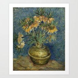 Fritillaries in a Copper Vase by Vincent van Gogh Art Print