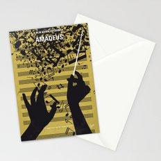 No725 My Amadeus minimal movie poster Stationery Cards
