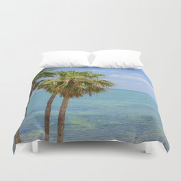 Palms in Paradise Duvet Cover