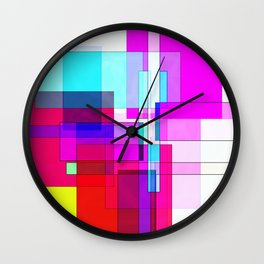 Squares combined no. 5 Wall Clock