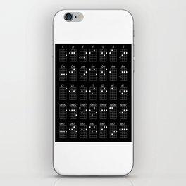 Ukulele chords iPhone Skin
