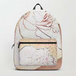 A white rose for you Backpack