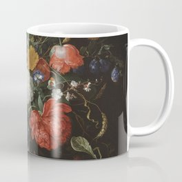 Jan Davidsz de Heem - Flower Still Life with a Bowl of Fruit and Oysters (c.1665) Coffee Mug