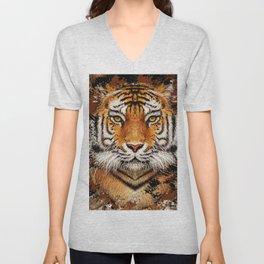 Tiger Profile Unisex V-Neck
