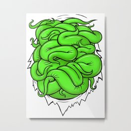 Green Tentacles Metal Print