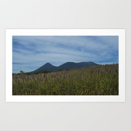 View To The Volcanoes. Art Print