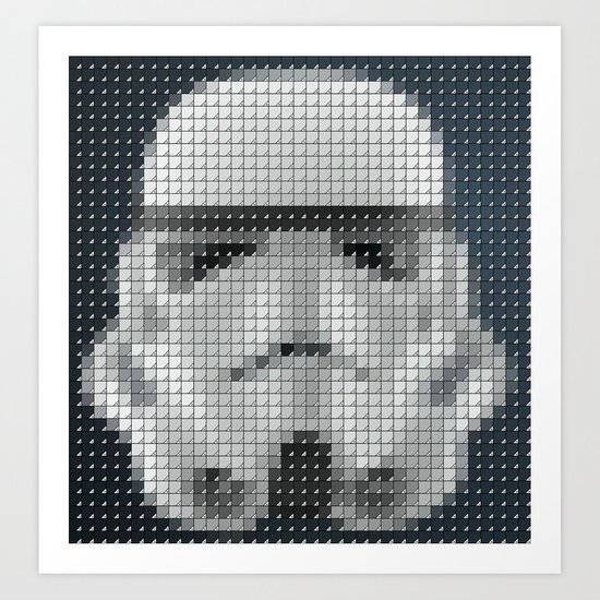 Stormtrooper Pantone Pop Art Print