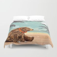 Beach Bear Duvet Cover