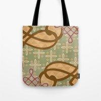 art nouveau Tote Bags featuring Art Nouveau by Nacho Filella Design