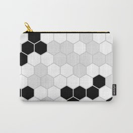 Honeycomb Pattern | Black and White Design | Minimalism Carry-All Pouch