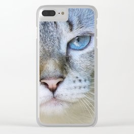 sweet blue eyes Clear iPhone Case