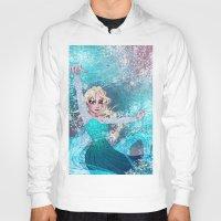 frozen elsa Hoodies featuring Frozen Elsa by Teo Hoble