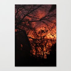 Sky Aflame Canvas Print