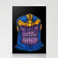 thanos Stationery Cards featuring Thanos by AgrovatedArt