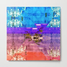 Colorful Southwestern Inspired Pattern Design Metal Print