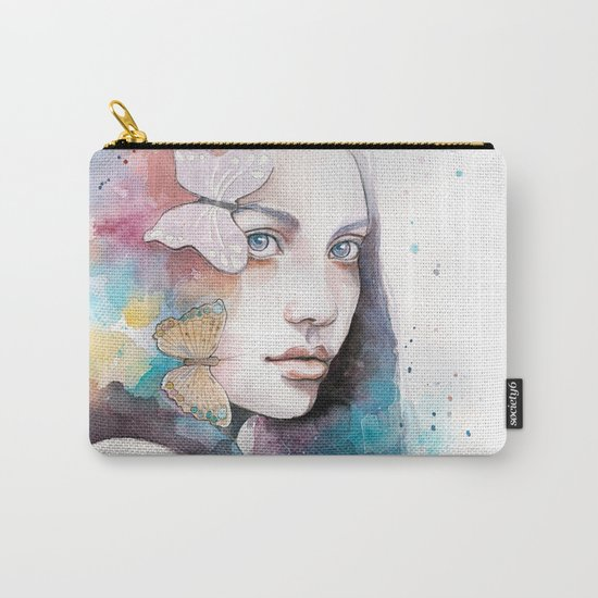 Lady with a butterfly Carry-All Pouch
