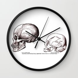 Cranial Configurations Wall Clock