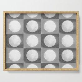 Montana Moon Minimalism Grey Black White Serving Tray