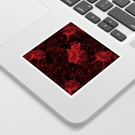 Red Black Drips Abstract Sticker