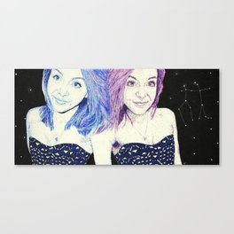 Zodiac Series: The Gemini Canvas Print