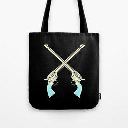 Crossed Guns Pair Tote Bag