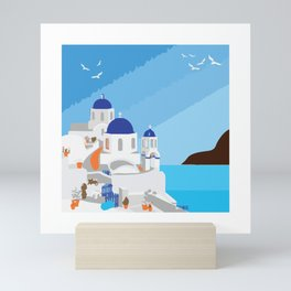 Santorin Mini Art Print